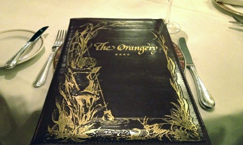 The Orangery - menu