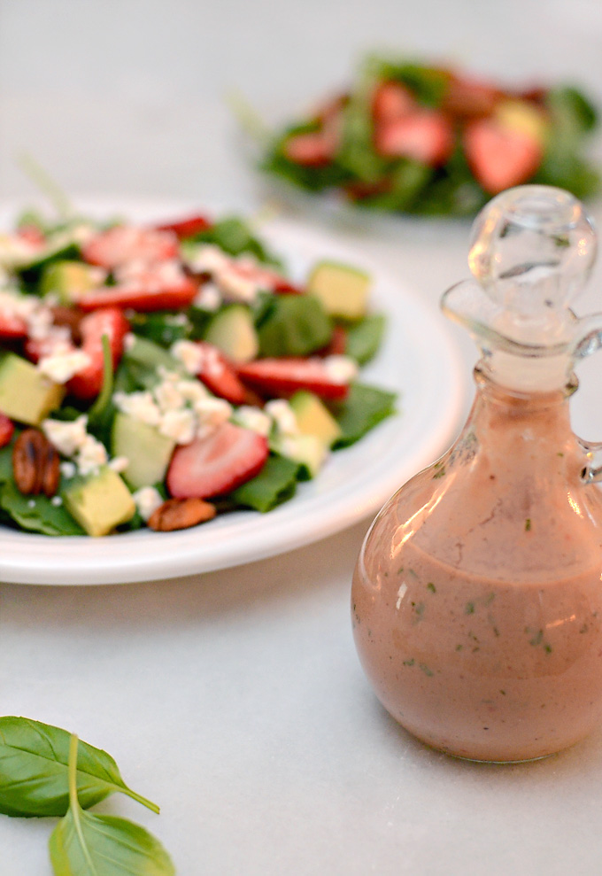 Top this salad with my creamy strawberry basil balsamic dressing or a ...